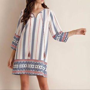 Entro Boho Print Tunic Dress Medium NWT